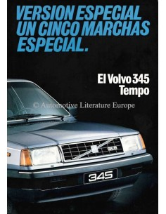 1982 VOLVO 345 BROCHURE SPANISH