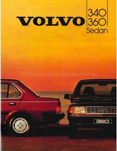 1984 VOLVO 340 / 360 SALOON BROCHURE DUTCH