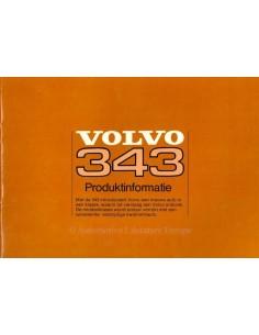 1976 VOLVO 343 BROCHURE DUTCH