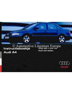 1995 AUDI A4 OWNERS MANUAL DUTCH