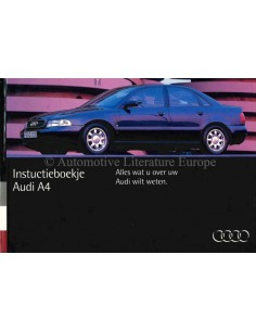 1994 AUDI A4 OWNERS MANUAL DUTCH