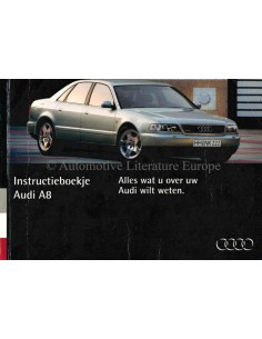 1994 AUDI A4 OWNER'S MANUAL DUTCH