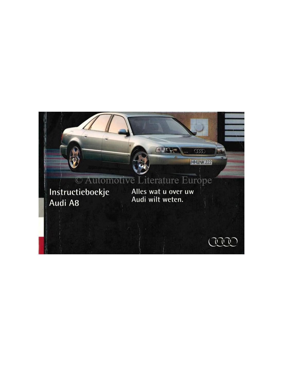 1994 audi a4 owners manual dutch rh autolit eu Audi Cars 2014 Audi A4