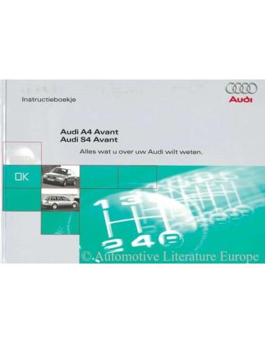 1998 audi a4 s4 avant owners manual handbook dutch rh autolit eu 1998 audi a4 owners manual download 2001 Audi A8