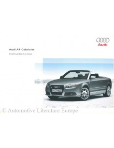 2006 AUDI A4 CONVERTIBLE OWNER'S MANUAL DUTCH