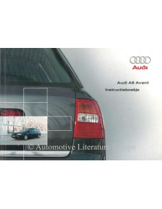 2002 AUDI A6 AVANT OWNER'S MANUAL DUTCH