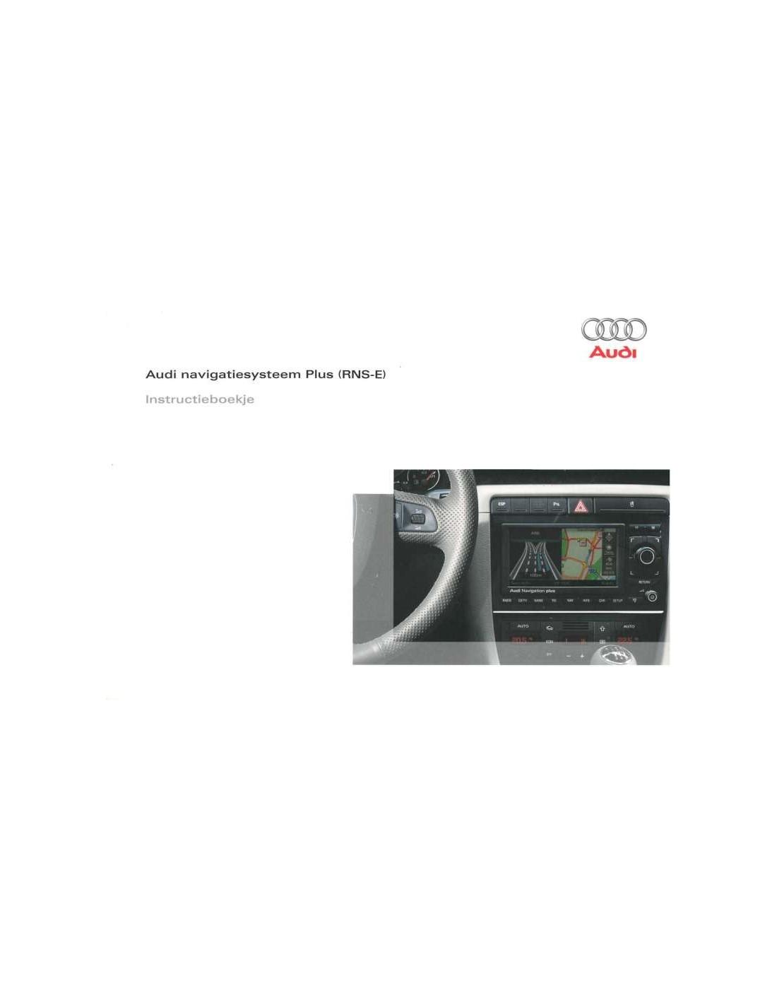 2008 audi rns e owner s manual dutch rh autolit eu manuel rns-e audi RNS-E Audi S4