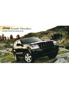 2007 JEEP GRAND CHEROKEE INSTRUCTIEBOEKJE NEDERLANDS