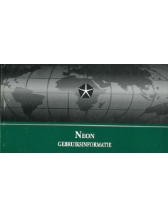 1999 CHRYSLER NEON INSTRUCTIEBOEKJE NEDERLANDS