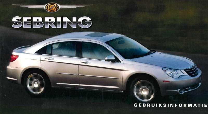 owners manual 2007 chrysler sebring sedan