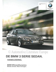 2011 BMW 3ER LIMOUSINE BETRIEBSANLEITUNG NIEDERLÄNDISCH