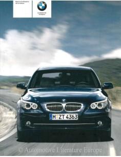 2007 BMW 5ER BETRIEBSANLEITUNG FRANZÖSISCH