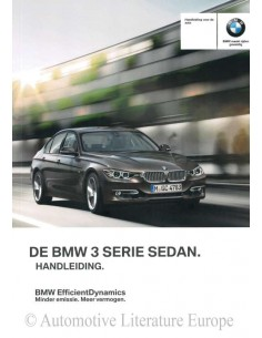 2012 BMW 3 SERIES SALOON OWNER'S MANUAL DUTCH