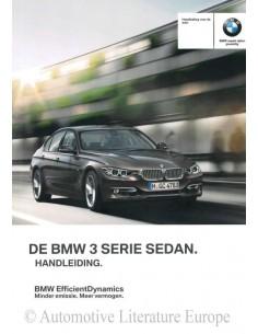 2012 BMW 3ER LIMOUSINE BETRIEBSANLEITUNG NIEDERLÄNDISCH