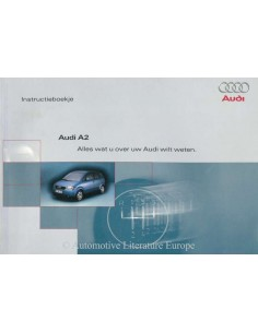 2000 AUDI A2 OWNER'S MANUAL HANDBOOK DUTCH