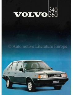1983 VOLVO 340 / 360 BROCHURE DUTCH