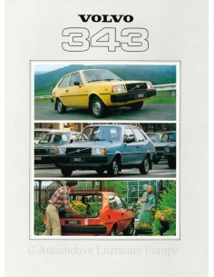 1979 VOLVO 343 BROCHURE DUTCH