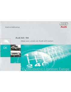 1998 AUDI A4 & S4 OWNER'S MANUAL HANDBOOK DUTCH