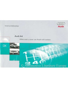 1997 AUDI A4 OWNERS MANUAL HANDBOOK DUTCH