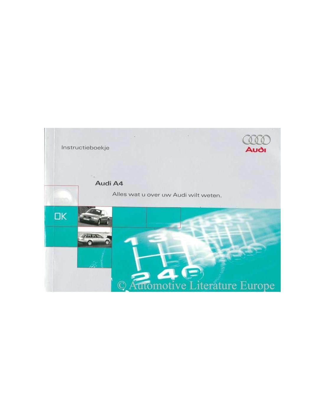 1997 audi a4 owners manual handbook dutch rh autolit eu 1998 Audi A4 audi a4 1997 owners manual free download