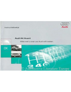 1996 AUDI A4 AVANT OWNER'S MANUAL HANDBOOK DUTCH
