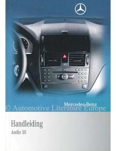2009 MERCEDES BENZ RADIO AUDIO 50 OWNERS MANUAL DUTCH