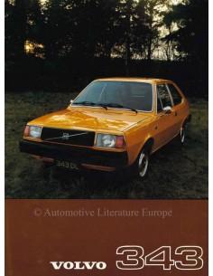 1976 VOLVO 343 LEAFLET DUTCH