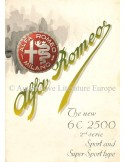 1947 ALFA ROMEO 6C SPORT & SUPER SPORT BROCHURE ENGLISH