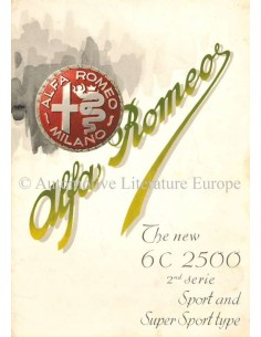 1947 ALFA ROMEO 2500 SPORT & SUPER SPORT PROSPEKT ENGLISCH