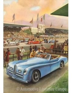 1948 ALFA ROMEO 2500 SPORT & SUPER SPORT DATENBLATT ENGLISCH