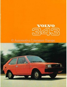 1977 VOLVO 343 BROCHURE DANISH