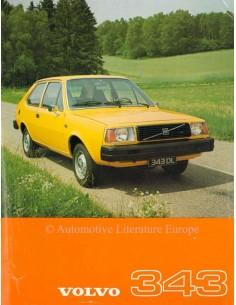 1977 VOLVO 343 DATENBLATT NIEDERLÄNDISCH