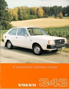 1977 VOLVO 343 DATENBLATT ENGLISCH