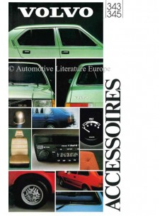 1981 VOLVO 343 / 345 ACCESSORIES BROCHURE DUTCH