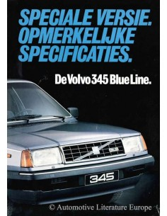 1982 VOLVO 345 BLUE LINE BROCHURE DUTCH