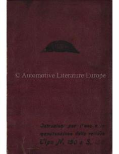 1927 CEIRANO TIPO N 150 / S 150 INSTRUCTIEBOEKJE ITALIAANS