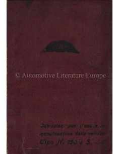 1927 CEIRANO TIPO N 150 / S 150 OWNER'S MANUAL ITALIAN