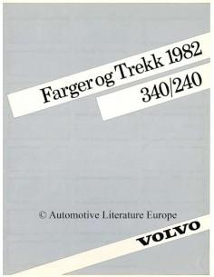 1982 VOLVO 240 / 340 FARBEN UND POLSTER PROSPEKT NORWEGISCH