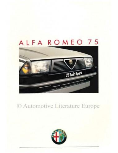 1987 ALFA ROMEO 75 BROCHURE NEDERLANDS
