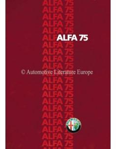 1985 ALFA ROMEO 75 PROSPEKT DEUTSCH