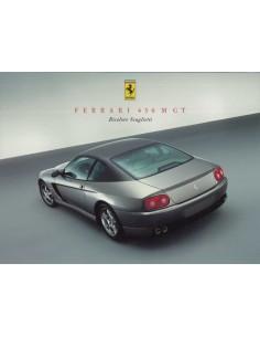 2002 FERRARI 456M GT BICOLORE SCAGLIETTI LEAFLET