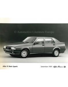 1989 ALFA ROMEO 75 TWIN SPARK PRESS PHOTO