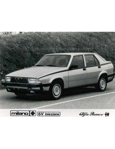 1986 ALFA ROMEO MILANO QV V6 INIEZIONE PRESS PHOTO