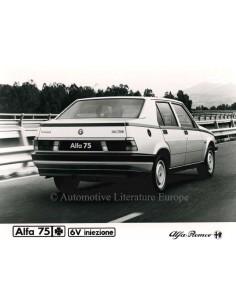 1987 ALFA ROMEO 75 QV V6 INIEZIONE PRESSE BILD