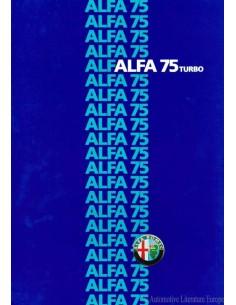 1986 ALFA ROMEO 75 TURBO BROCHURE DUTCH