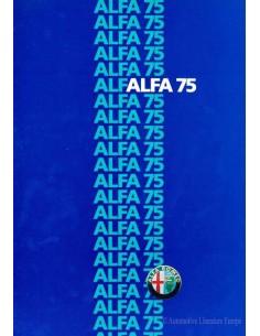 1986 ALFA ROMEO 75 PROSPEKT NIEDERLÄNDISCH