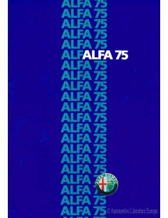 1985 ALFA ROMEO 75 BROCHURE FRENCH