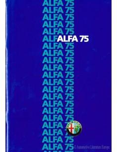 1985 ALFA ROMEO 75 BROCHURE DUTCH