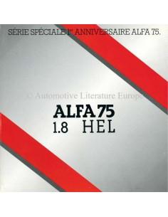 1987 ALFA ROMEO 75 1.8 HEL BROCHURE FRENCH