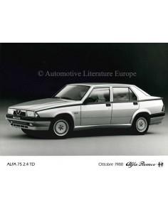 1988 ALFA ROMEO 75 2.4 TD PRESSE BILD
